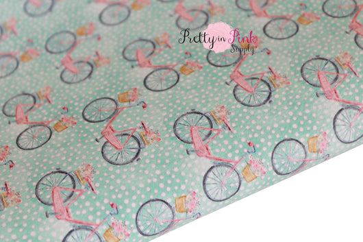 Bike Ride Textured Canvas Faux Leather Sheet