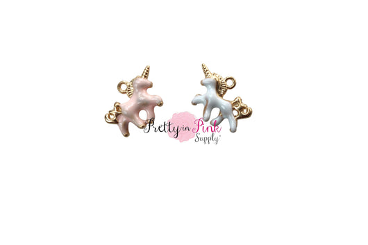 Pearlized TINY Unicorn Charm