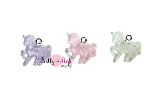 MINI Glitter Unicorn CHARM - Pretty in Pink Supply