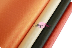 Indented Crisscross  Faux Leather Sheets