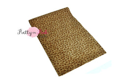 Small Tan Fur Leopard Print Fabric Sheet