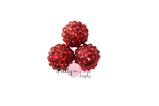 Red AB Berry Beads