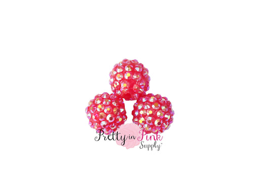 Hot Pink AB Berry Beads