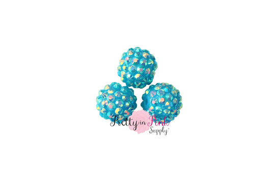 Blue AB Berry Beads