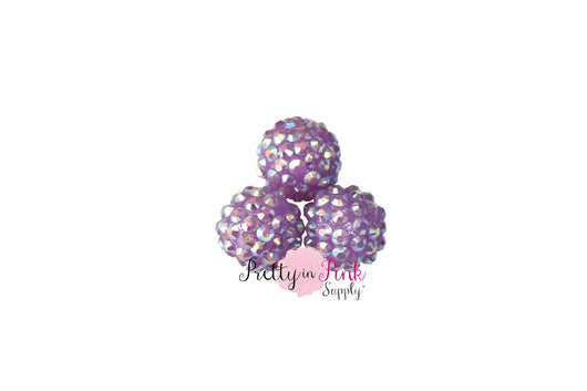 Lavender AB Berry Beads
