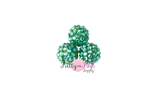 Sea Green AB Berry Beads
