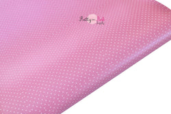 Pink Tiny White Dot Faux Leather Fabric Sheet
