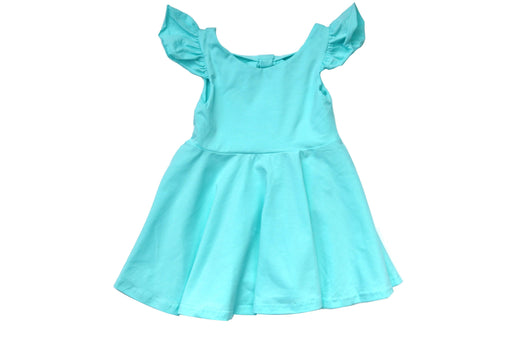 Light Aqua Juliette Bow Back Dress