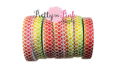Green/Yellow/Orange/Red OMBRE Mermaid Print Elastic