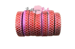 Red/Hot Pink/Purple OMBRE Mermaid Print Elastic