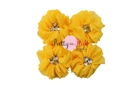 Bella Collection Rhinestone Chiffon Flowers
