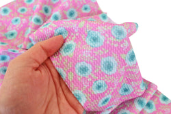 Pink with Aqua Roses Liverpool Fabric