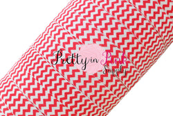 White/Red Chevron Elastic