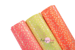 Neon Dots Soft Fabric Sheet