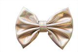 "5"" X-Large Soft Shiny Metallic Fabric Bows"
