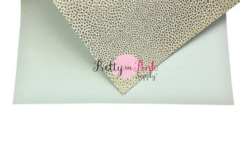 Faux Leather/Metallic Dot Sheet - Pretty in Pink Supply