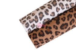 Suede Leopard Fabric Sheet