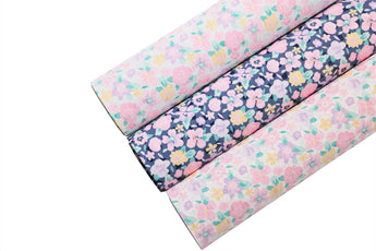 Garden Stroll Faux Leather Sheet - Pretty in Pink Supply