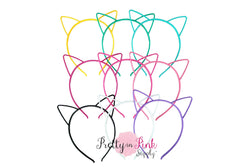 PLASTIC Hallow CAT Ears Headband