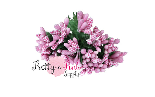 Pink Frosted Berry Bead Stems - Pretty in Pink Supply
