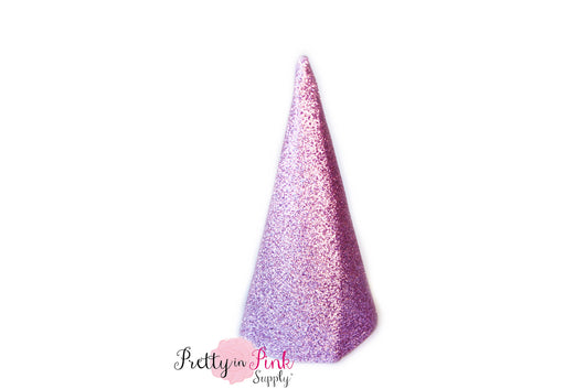 Lavender Glitter Party Hat- 4.5