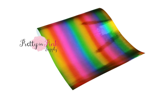 Rainbow Stripe SHINY Metallic Sheet