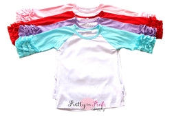 Raglan Blank Shirts - Pretty in Pink Supply