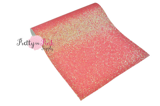 Netted Chunky Glitter Fabric Sheets - Pretty in Pink Supply