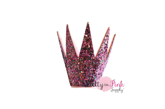 Pointed Chunky Glitter Crown