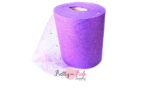Purple Glitter Tulle - Pretty in Pink Supply