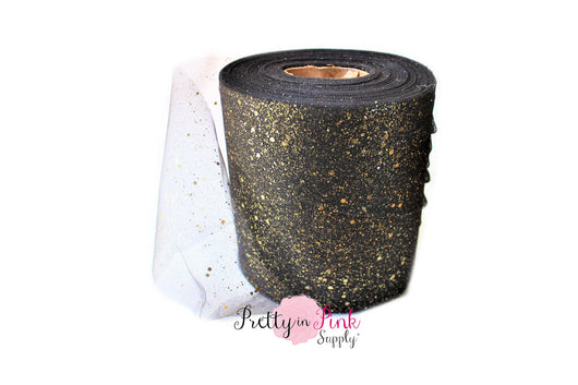 Black with Gold Glitter Tulle - Pretty in Pink Supply