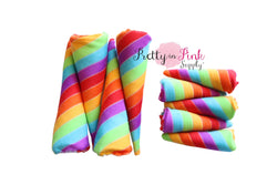 Stripe Rainbow Padded Unicorn Horns