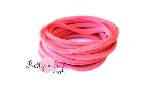 Coral THIN Nylon Headband - Pretty in Pink Supply