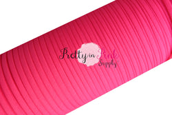 Hot Pink Nylon Padded Elastic - Pretty in Pink Supply