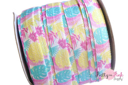 Tropical Palm Leaves Print Elastic
