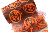"5"" Black Organza Large Orange Velvet Jack O Lantern Tulle"