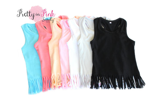 Fringe Tank Top - Pretty in Pink Supply