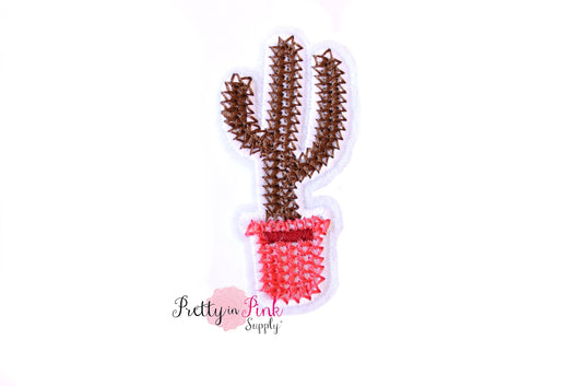 Brown Cactus Iron On Patch - Pretty in Pink Supply