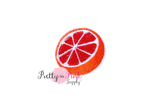 Orange Slice Iron On Patch - Pretty in Pink Supply