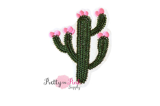 Blooming Cactus Iron On Patch - Pretty in Pink Supply