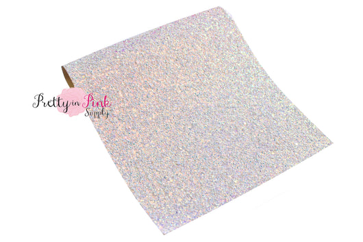 Light Blue Iridescent Chunky Glitter Fabric Sheet - Pretty in Pink Supply