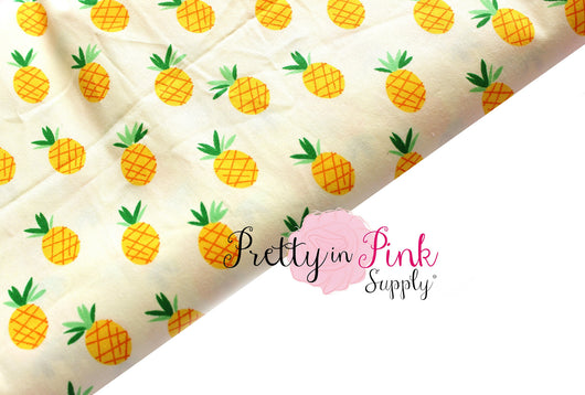 Yellow Pineapple Fabric - Pretty in Pink Supply