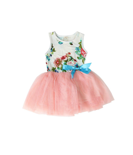 Light Coral Floral Tulle Dress