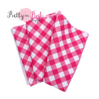 Pink Diagonal Plaid | Liverpool Fabric