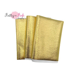 Folded Gold Metallic Liverpool Fabric Strip