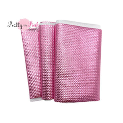Folded Pink Metallic Liverpool Fabric Strip