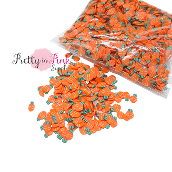 Carrot Confetti Loose CLAY Slices