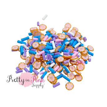 Blue Sprinkle Doughnut | Confetti Loose Clay - Pretty in Pink Supply