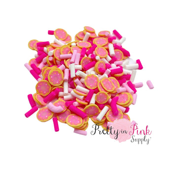 Pink Sprinkle Doughnut | Confetti Loose Clay - Pretty in Pink Supply