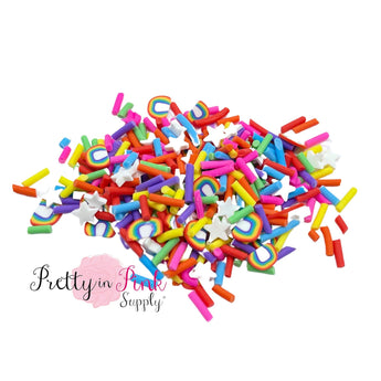 Rainbow Sprinkle Mix | Confetti Loose CLAY - Pretty in Pink Supply